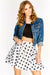 White Polka Dot Skater Skirt