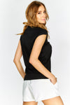 Black Cap Sleeve T-Shirt