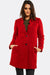 Red Wool Blend Coat