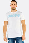 White Text Printed Cotton T-Shirt