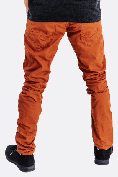 Golden Brown Cotton Trousers