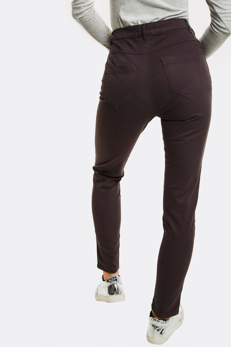 Grey High Waisted Trousers