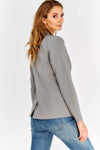 Grey Single Button Blazer