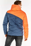 Blue and Orange Quilted Coat