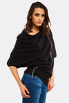 Knitted Poncho With Zip Detail