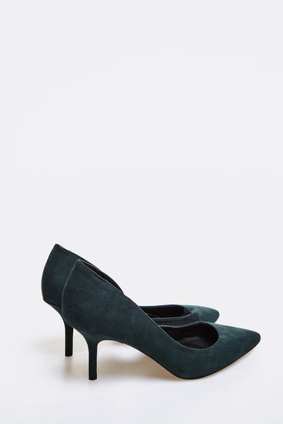Dark Green High Heel D'Orsay Shoes