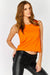Orange Sleeveless Crop Top