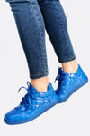 Deep Blue Quilted Sports Shoes