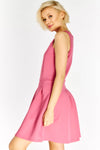 Pink Sleeveless Skater Dress