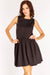 Black Textured Sleeveless Dress