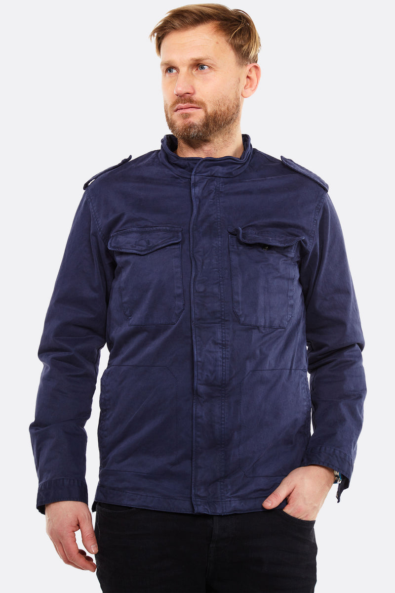 Navy Jacket With Chest Pockets