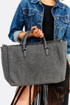Grey Shopping Bag