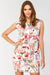 Pink Floral Sleeveless Shift Dress