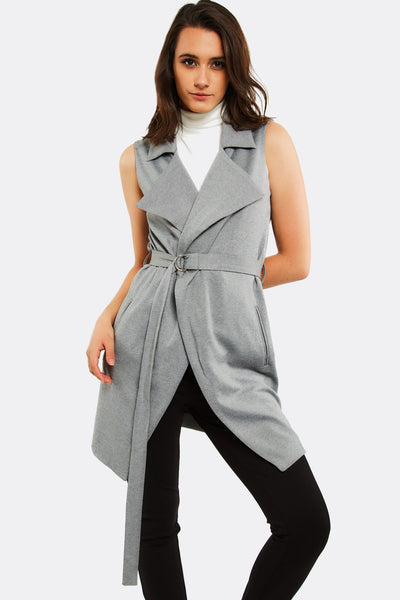 Light Grey Long Vest