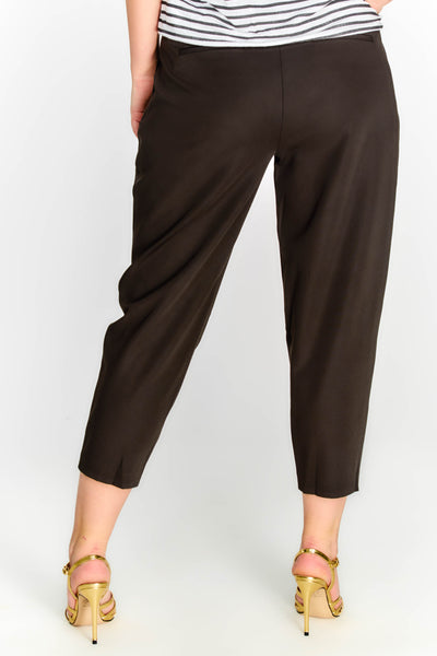 Black Ankle Grazer Trousers