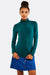 Green Turtleneck Blouse