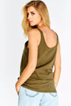 Olive Green Cotton Top