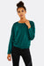 Green Blouse With Elastic Hem