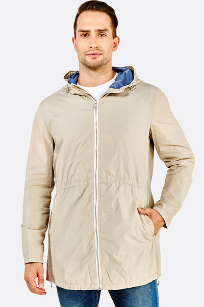 Beige Hooded Jacket