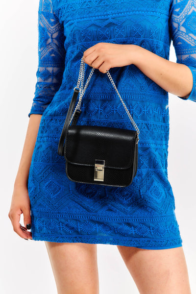 Small Textured Black Bag