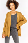 Beige Thin Loose Blazer