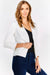 Cream Short Open Blazer