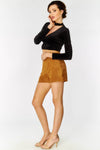 Brown High Waisted Shorts