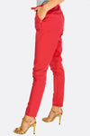 Red Trousers With Belt