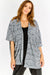 Grey Pattern Half Sleeve Cardigan