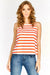 Red Stripe Sleeveless Top