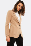 Beige Blazer With Side Pockets