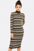 Multicolour Fine Knit Dress