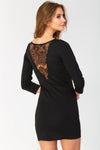 3/4 Sleeved Slim Fit Mini Dress