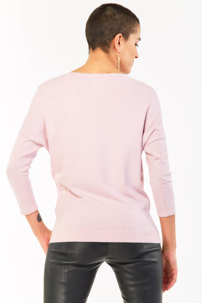 Pink Textured Lightweight Jumper