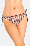 Black Bikini Bottoms With Orange Print