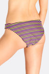 Multicoloured Striped Bikini Bottoms