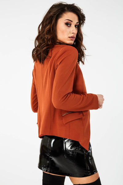 Orange Zip Pocket Jacket