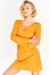 Orange Wide Sleeve Dress
