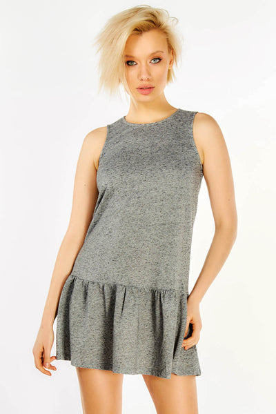 Grey Sleeveless Skater Dress