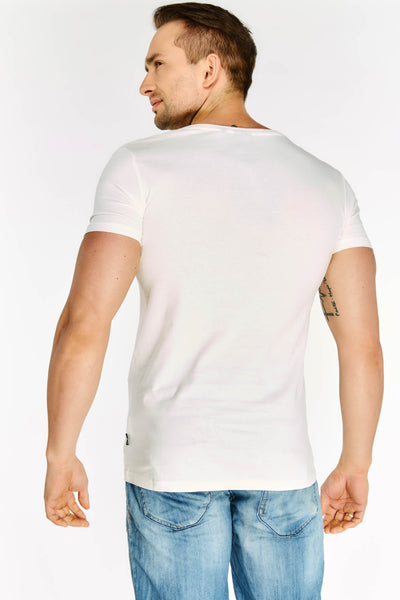 White V Neck T-Shirt