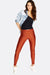 Orange Skinny Jean Style Leggings