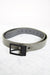 Grey Faux Leather Belt