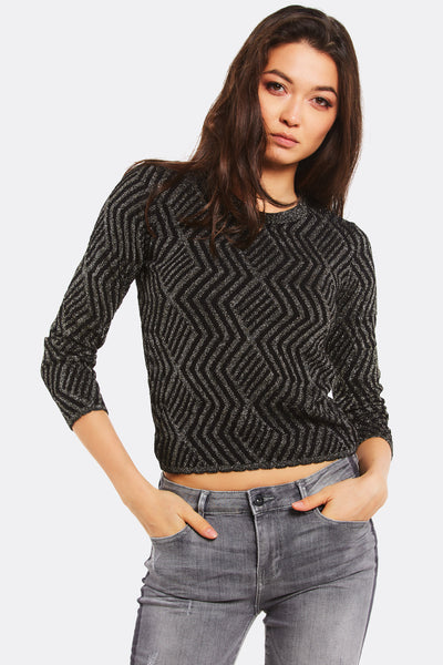 Gold Patterned Jumper