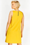 Yellow Sleeveless Shift Dress