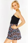 Multicolour Patterned Skater Skirt