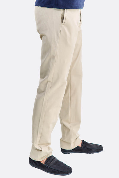 Beige Trousers With Side Pockets