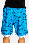 Blue Shark Printed Swim Bermudas