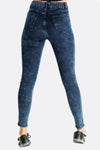 Navy Blue High Waisted Skinny Fit Jeans