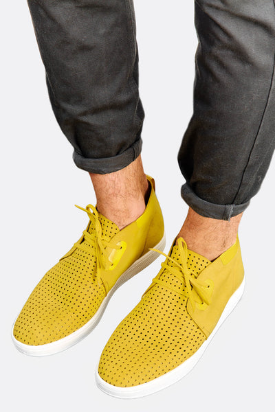 Yellow Perforated Shoes