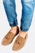 Beige Leather Moccasins